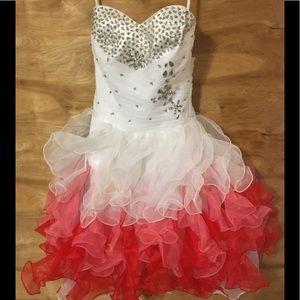 Grace Karin sz 2 ombre strapless prom formal dress